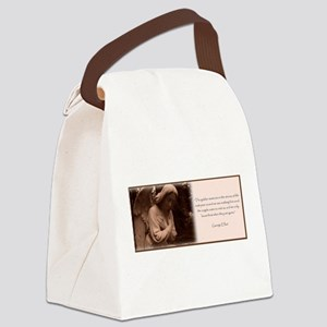 Angel Quote Canvas Lunch Bag