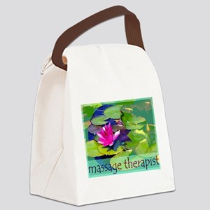 Massage Therapist / Waterlily Canvas Lunch Bag