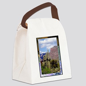 Desert Scene Canvas Lunch Bag