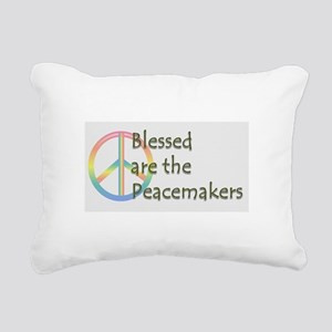 Blessed are the Peacemakers Rectangular Canvas Pil
