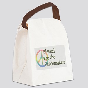 Blessed are the Peacemakers Canvas Lunch Bag