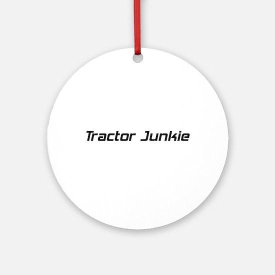 Tractor Junkie Ornament (Round)