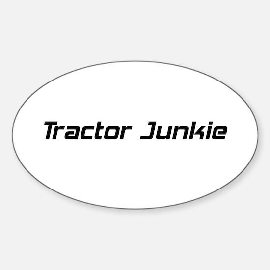 Tractor Junkie Sticker (Oval)