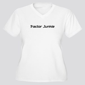 Tractor Junkie Women's Plus Size V-Neck T-Shirt