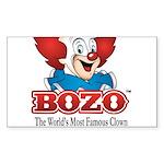 Bozo face Sticker (Rectangle 50 pk)