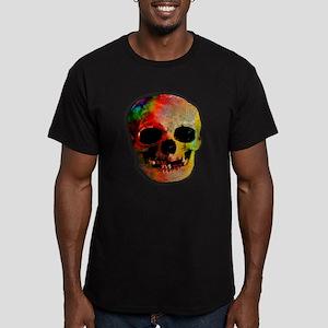 Tie dye skull Men's Fitted T-Shirt (dark)