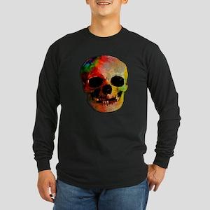 Tie dye skull Long Sleeve Dark T-Shirt