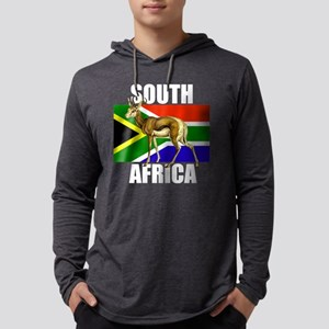 South Africa Springbok Mens Hooded Shirt