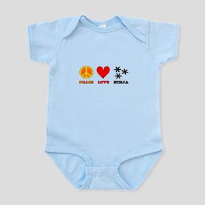 Peace Love Ninja Infant Bodysuit