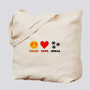 Peace Love Ninja Tote Bag