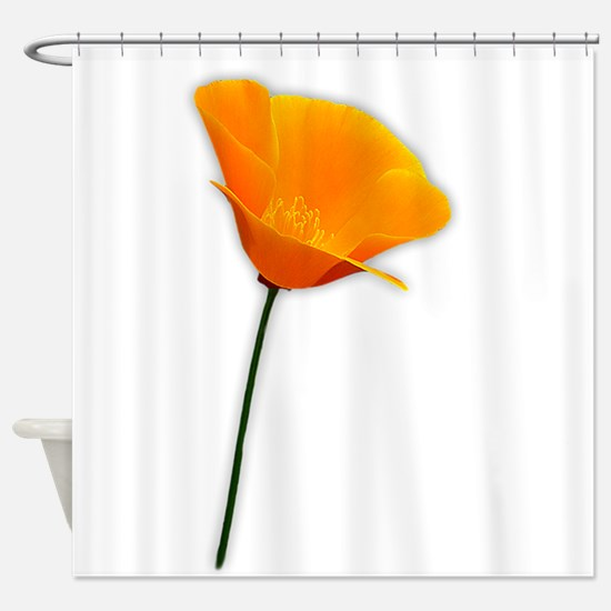 California Poppy Shower Curtain