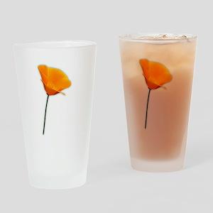 California Poppy Drinking Glass