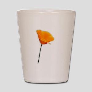 California Poppy Shot Glass