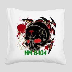 NVG Green and Red Devil Doc Square Canvas Pillow
