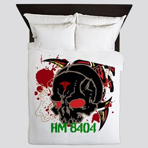 NVG Green and Red Devil Doc Queen Duvet