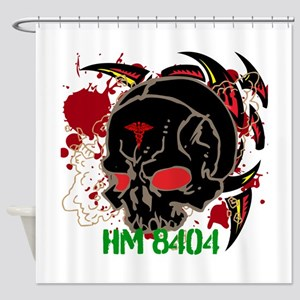 NVG Green and Red Devil Doc Shower Curtain
