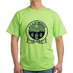 USS McMORRIS Green T-Shirt