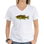 Smallmouth Bass Women's V-Neck T-Shirt