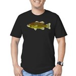 Smallmouth Bass Men's Fitted T-Shirt (dark)