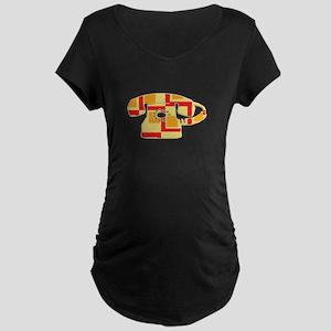 Vintage Telephone Maternity Dark T-Shirt