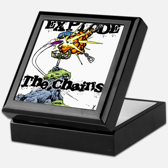 Disc Golf EXPLODE THE CHAINS Keepsake Box