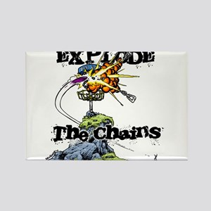 Disc Golf EXPLODE THE CHAINS Rectangle Magnet