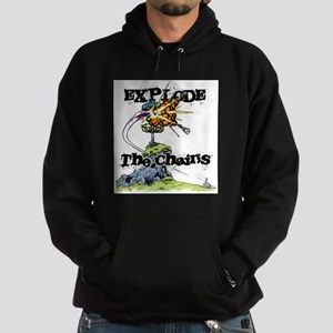 Disc Golf EXPLODE THE CHAINS Hoodie (dark)