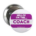 I'm the coach nametag (purple) Button