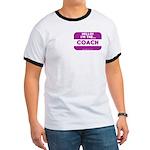 I'm the coach nametag (purple) Ringer T