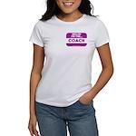 I'm the coach nametag (purple) Women's T-Shirt