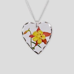 Columbine Necklace Heart Charm