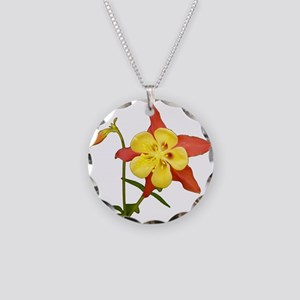 Columbine Necklace Circle Charm