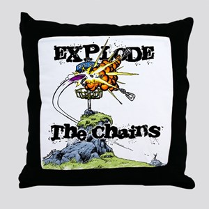 Disc Golf EXPLODE THE CHAINS Throw Pillow