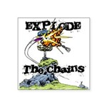 Disc Golf EXPLODE THE CHAINS Square Sticker 3
