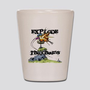 Disc Golf EXPLODE THE CHAINS Shot Glass