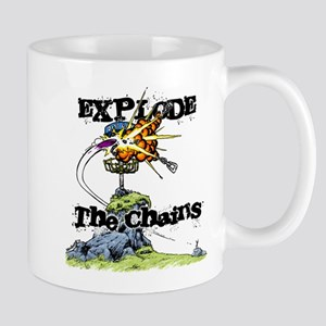 Disc Golf EXPLODE THE CHAINS Mug
