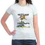 Disc Golf EXPLODE THE CHAINS Jr. Ringer T-Shirt