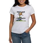 Disc Golf EXPLODE THE CHAINS Women's T-Shirt