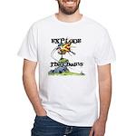 Disc Golf EXPLODE THE CHAINS White T-Shirt