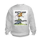 Disc Golf EXPLODE THE CHAINS Kids Sweatshirt