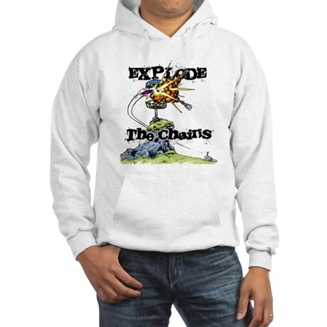 Disc Golf EXPLODE THE CHAINS Hooded Sweatshirt