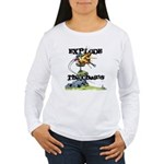 Disc Golf EXPLODE THE CHAINS Women's Long Sleeve T