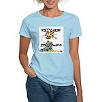 Disc Golf EXPLODE THE CHAINS Women's Light T-Shirt