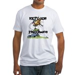 Disc Golf EXPLODE THE CHAINS Fitted T-Shirt