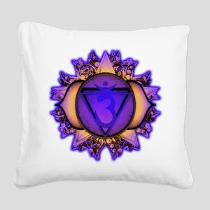 Ajna Chakra Square Canvas Pillow