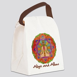 Align and Allow Canvas Lunch Bag