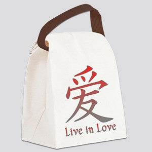 Live in Love Canvas Lunch Bag