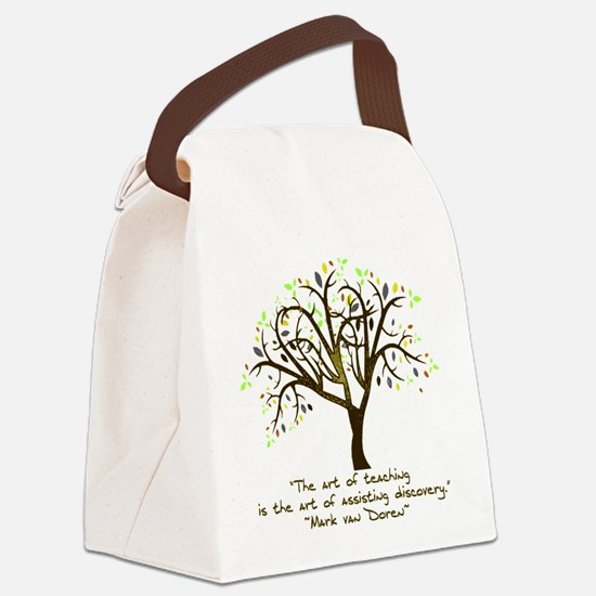 The Art Of Teaching Canvas Lunch Bag