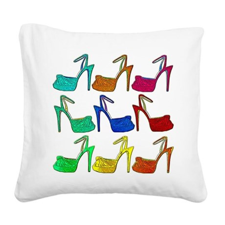 Heels Square Canvas Pillow