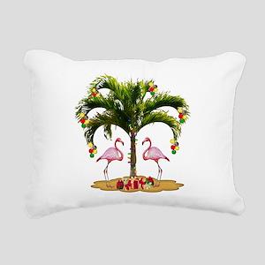 Tropical Holiday Rectangular Canvas Pillow